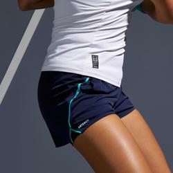 Tennisshort voor dames SH Light 900 marineblauw
