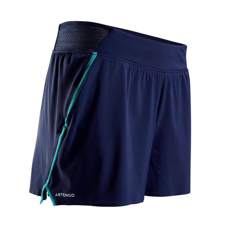 Pantalón Corto de Tenis Artengo SH Light 900 Mujer Marino
