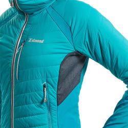 Hybride donsjas voor alpinisme voor dames Sprint blauw