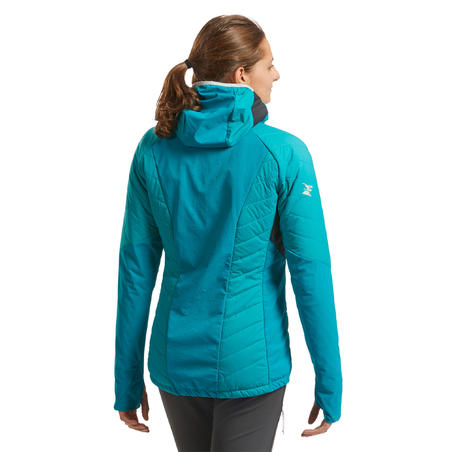 Chamarra Acolchada de Alpinismo y Alta Montaña Mujer Simond Sprint Azul Turquesa