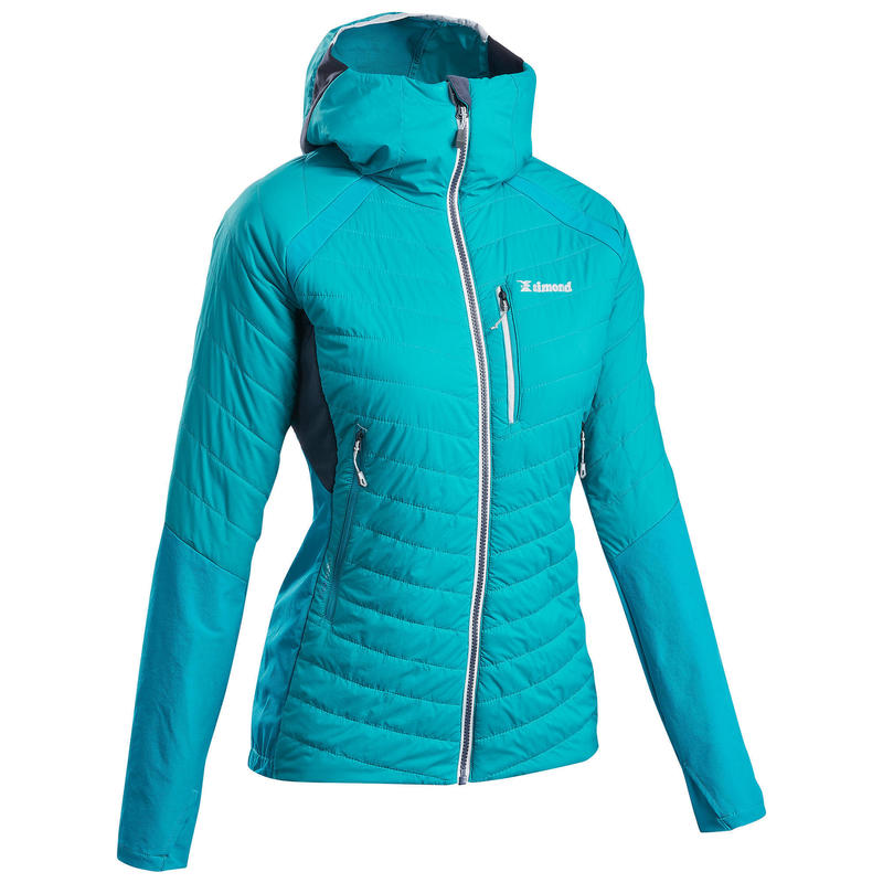 Women's synthetic hybrid mountaineering down jacket SPRINT - Blue