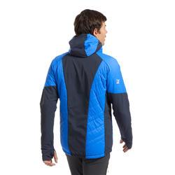 Hybride gewatteerde jas voor bergbeklimmen heren Sprint blauw