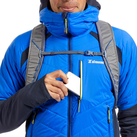 Men's Mountaineering Hybrid Down Jacket - Sprint Blue