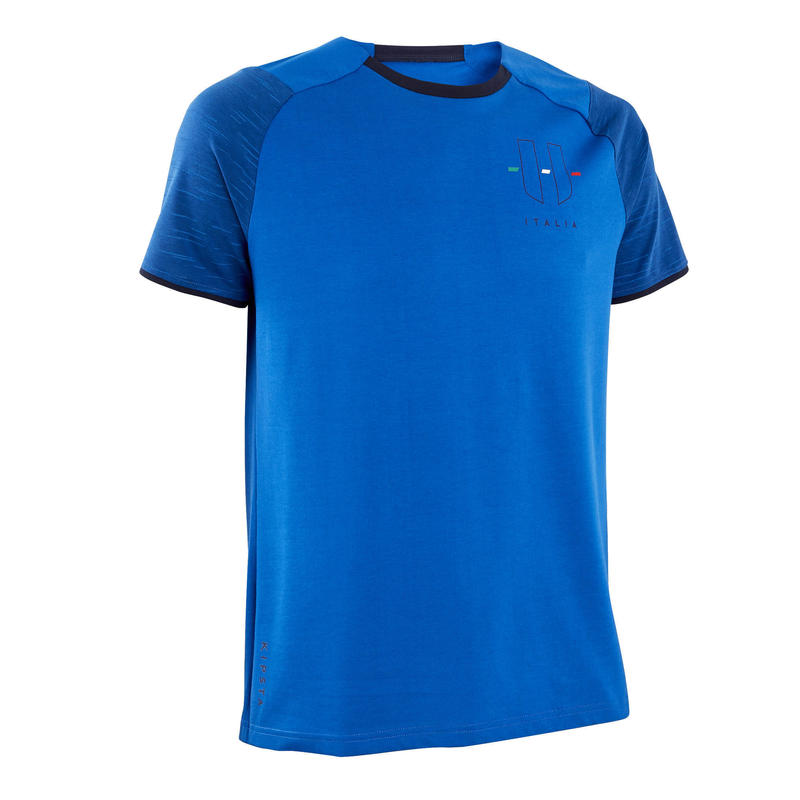 Camiseta Italia Kipsta FF100 adulto azul