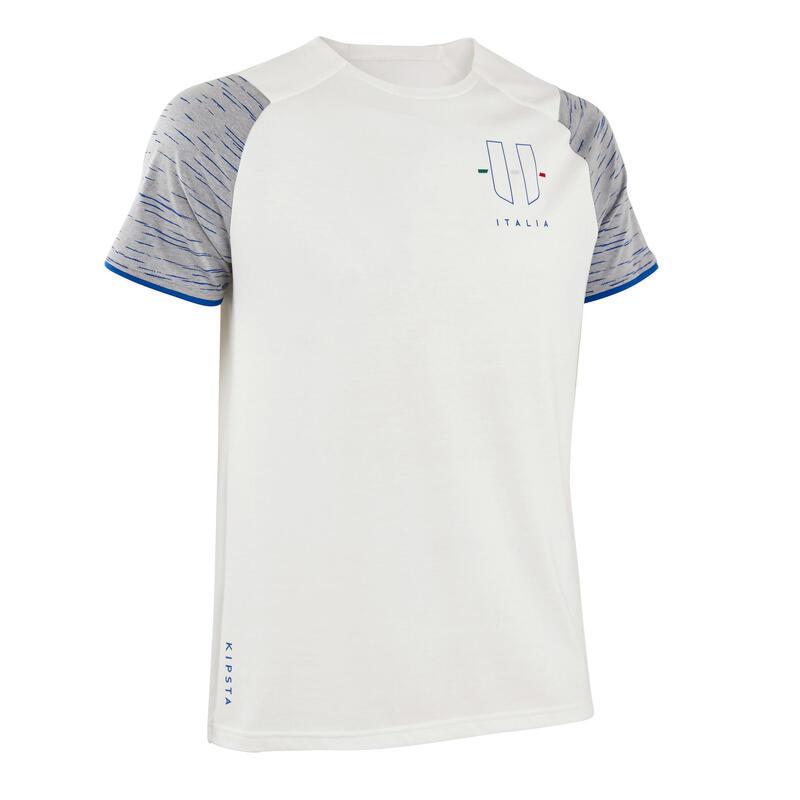 Camiseta Italia Kipsta FF100 adulto blanco