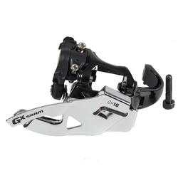 Umwerfer 2 × 10 Gänge Sram GX 31,8mm Top Pull/Bottom Pull Klemmschelle unten