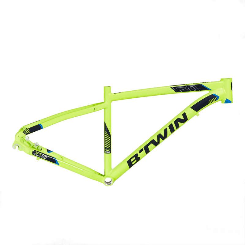 FRAME MTB Cycling - ST 520 Frame - Yellow ROCKRIDER - Bike Parts