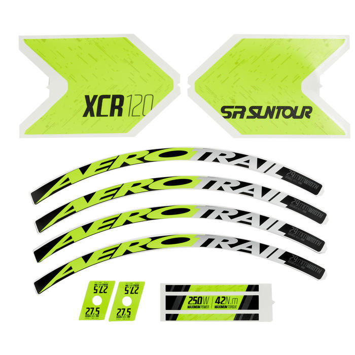 KIT STICKERS E-ST500 JAUNE