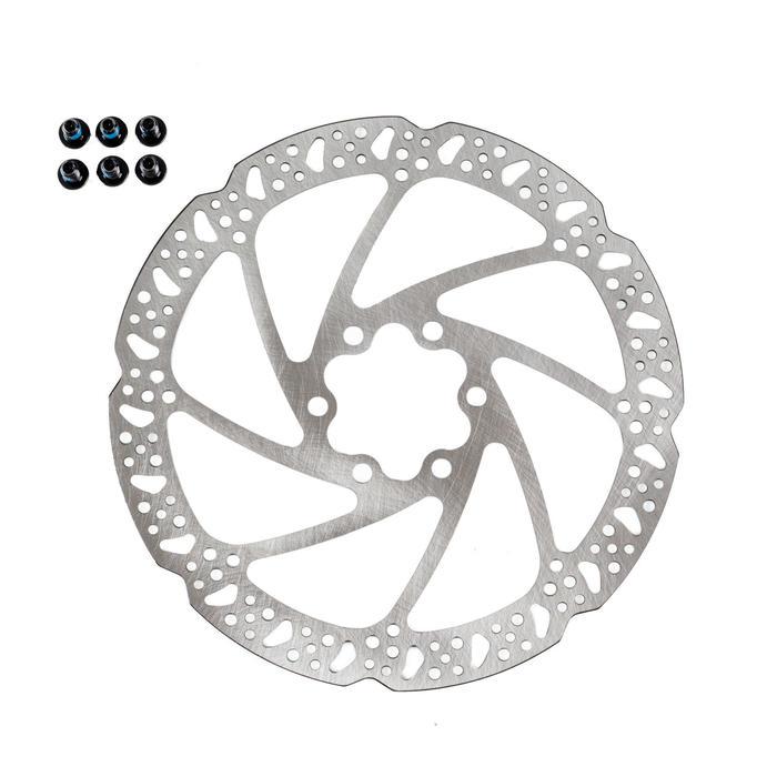 Remschijf fiets 160 mm Tektro 6 gaten