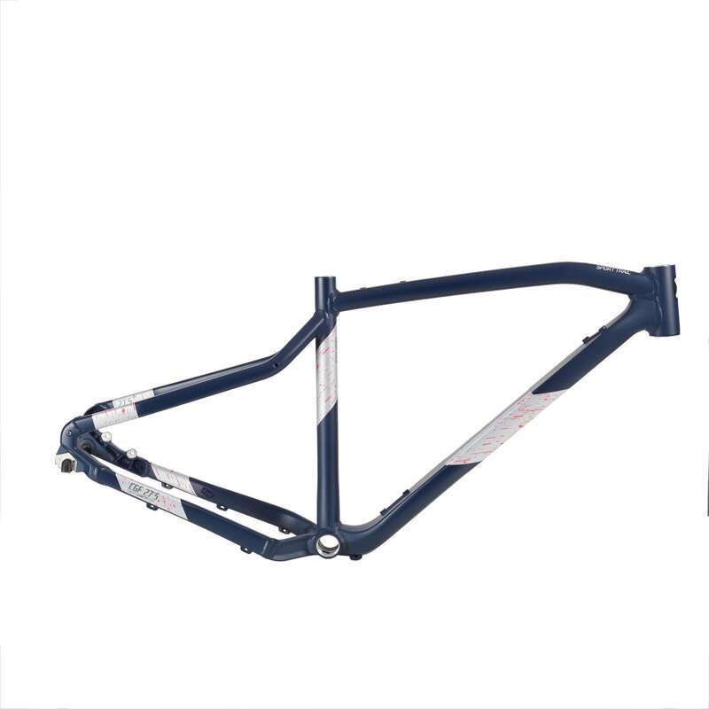 FRAME MTB Cycling - E-ST 500 Frame - Black/Pink ROCKRIDER - Bike Parts