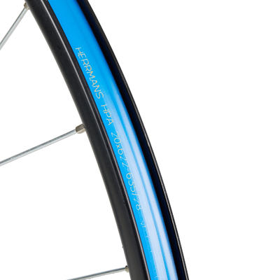 "Rueda Bicicleta MTB 26"" Delantera Disco / V-Brake Doble Pared Negra"