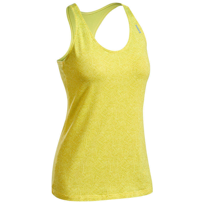Canotta arrampicata donna STRETCH gialla