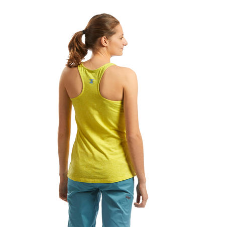 WOMEN'S STRETCH CLIMBING TANK TOP - COLOUR CANARY YELLOW