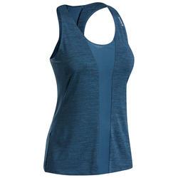 Stretch topje voor klimmen dames blauw
