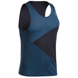Technisch mouwloos klimshirt voor heren antiekblauw