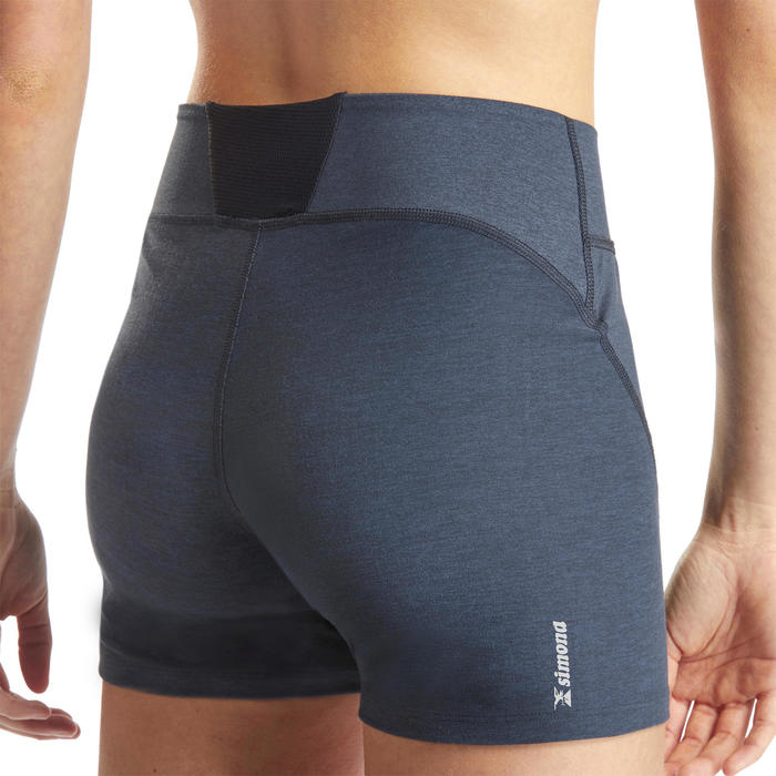 SHORT D'ESCALADE STRETCH FEMME - COULEUR GRIS ABYSSES