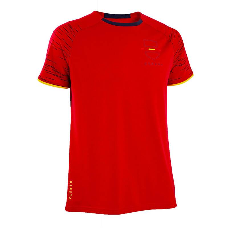 ŠPANĚLSKO Fotbal - TRIČKO FF100 ŠPANĚLSKO  KIPSTA - Fotbalové oblečení