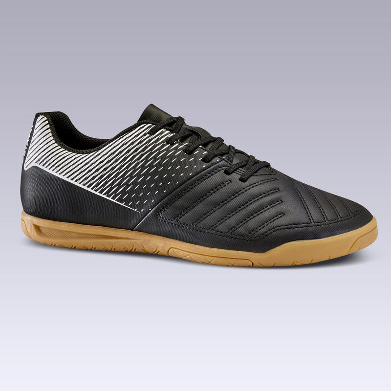รองเท้าฟุตซอลสำหรับผู้ใหญ่รุ่น 100 สีดำ