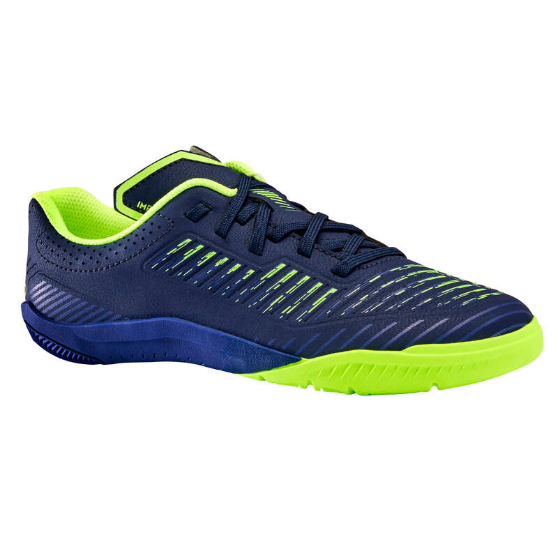 Indoor Football - Kids' Futsal Ginka 500 - Blue IMVISO - Football Boots