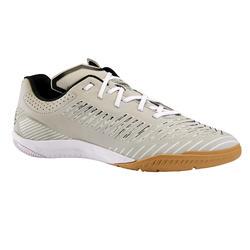 男款室內五人制足球鞋Ginka 500-淡灰色