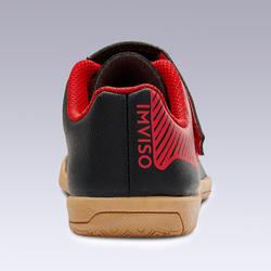 Chaussures de Futsal Baby 100 noir rouge