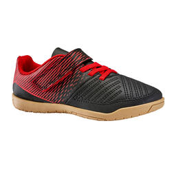 Kids' Futsal Trainers 100 - Black/Red