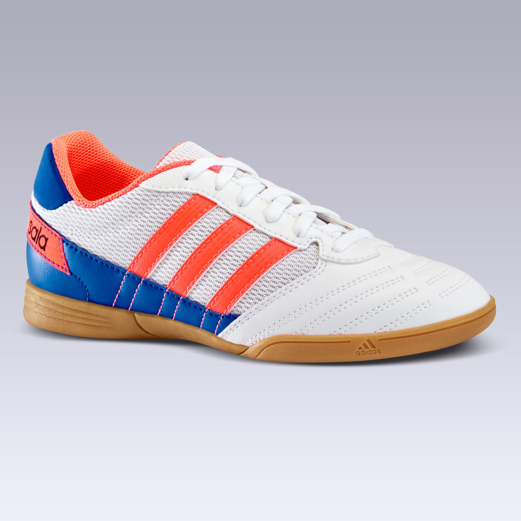 Chaussure de Futsal enfant SUPER SALA Blanche ADIDAS | Decathlon