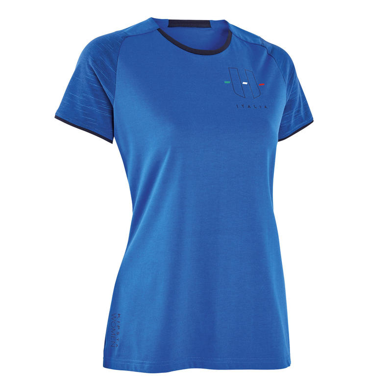 Camiseta Italia Kipsta FF100 mujer