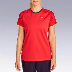 女款足球上衣FF100-西班牙隊主場