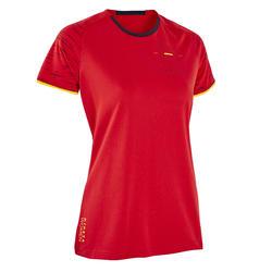 T-shirt Futebol FF100 Mulher Espanha principal