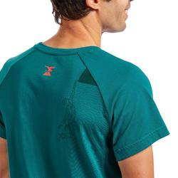 Klim-T-shirt voor heren Comfort dennenblauw