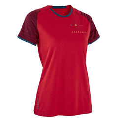 Portugal voetbalshirt FF100 dames supportershirt EK 2020 rood