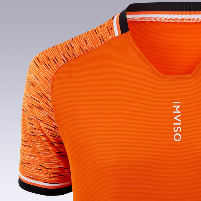 Zaalvoetbalshirt voor heren oranje