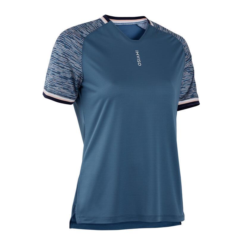 Zaalvoetbalshirt dames donkerblauw