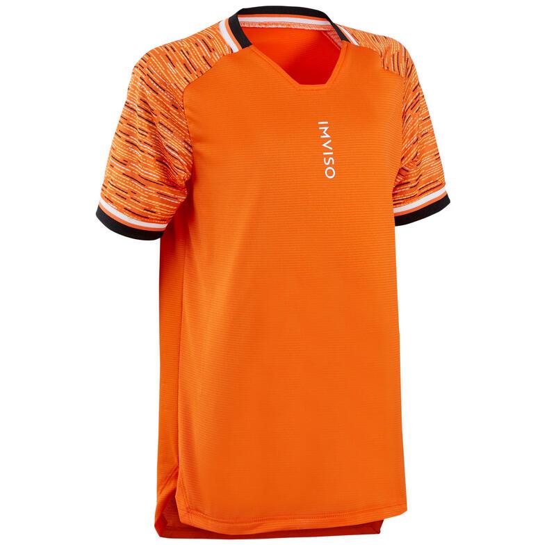 Zaalvoetbalshirt voor kinderen oranje