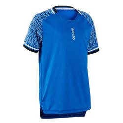 Zaalvoetbalshirt voor kinderen blauw