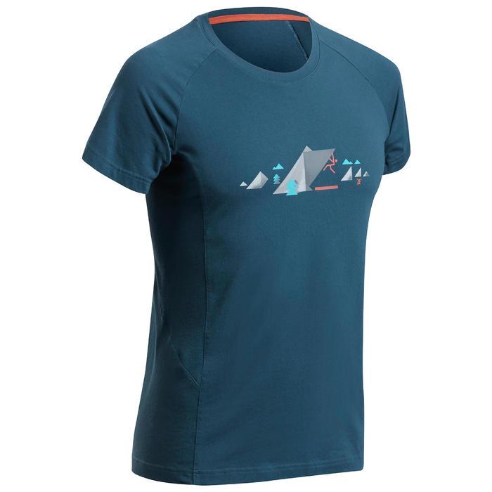 Klim-T-shirt voor heren Comfort antiekblauw