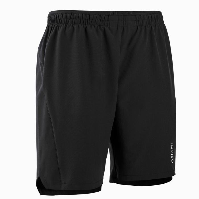 男款室內五人制足球短褲-黑色