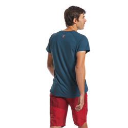 T-SHIRT D'ESCALADE CONFORT HOMME - COULEUR BLEU ANTIQUE