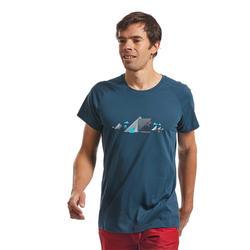 MEN'S COMFORT CLIMBING T-SHIRT - COLOUR ANTIQUE BLUE