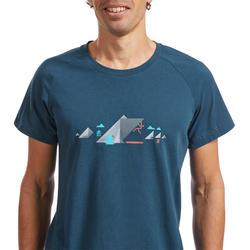 T-shirt Comfort heren antiekblauw