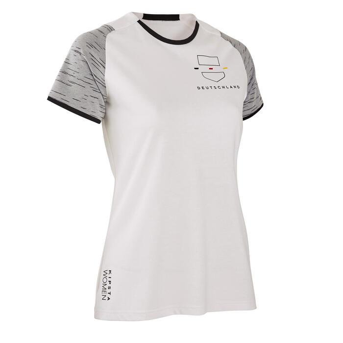Duitsland voetbalshirt FF100 dames supportershirt EK 2020 wit