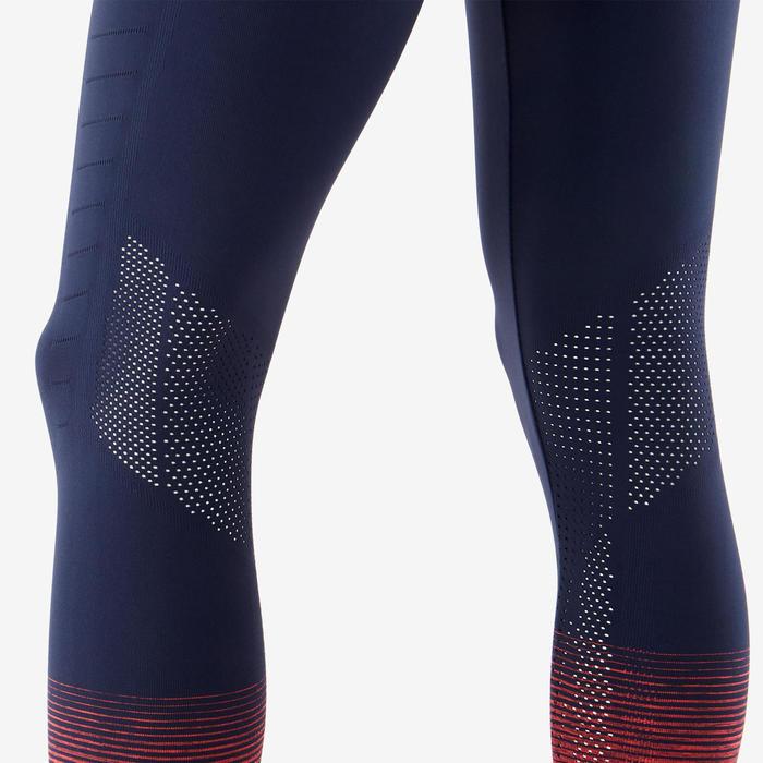 Legging respirant et technique S900 fille GYM ENFANT bleu marine, bas rose fluo