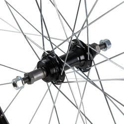 "Achterwiel voor MTB 27.5"" dubbelwandig V-brake freewheel zwart"