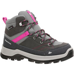 Children's Waterproof Mountain Hiking Shoes MH 500 High - Grey/Pink