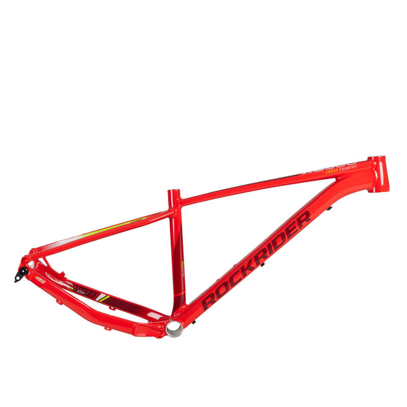 FRAME MTB Cycling - RR XC 500 2018 Frame - Red ROCKRIDER - Bike Parts