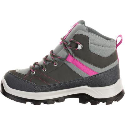 נעליים עמידות במים לטיולי הרים לילדים MH500 - אפור/ורוד