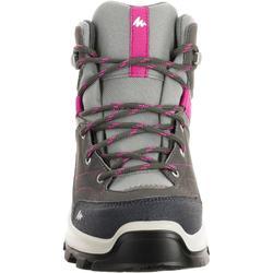 Waterdichte bergwandelschoenen voor kinderen MH500 halfhoog grijs/roze