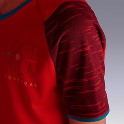 Portugal voetbalshirt FF100 kind supportershirt EK 2020 rood