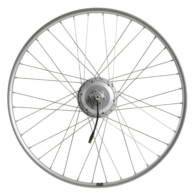 Achterwiel voor elektrische fiets 28 inch dubbelwandig 36v zilver
